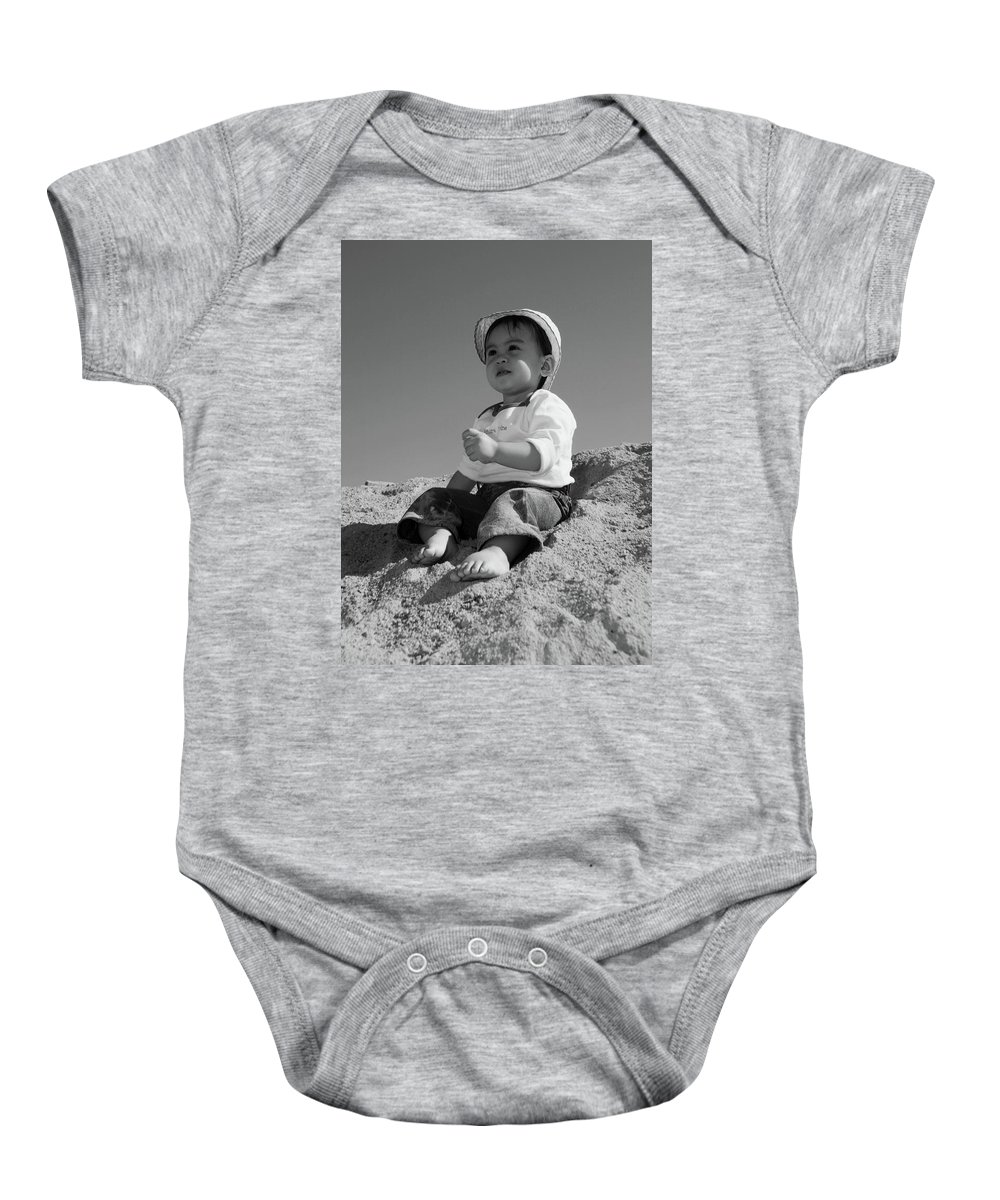 Jezcself Baby Onesie featuring the photograph My Future Is Not Here by Jez C Self