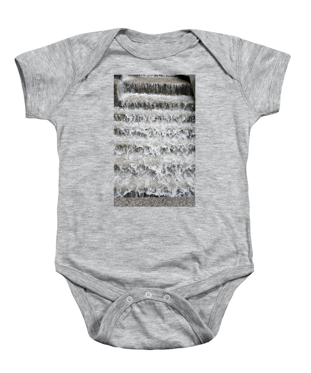 Waterfall Baby Onesie featuring the photograph N Y C Waterfall by Rob Hans