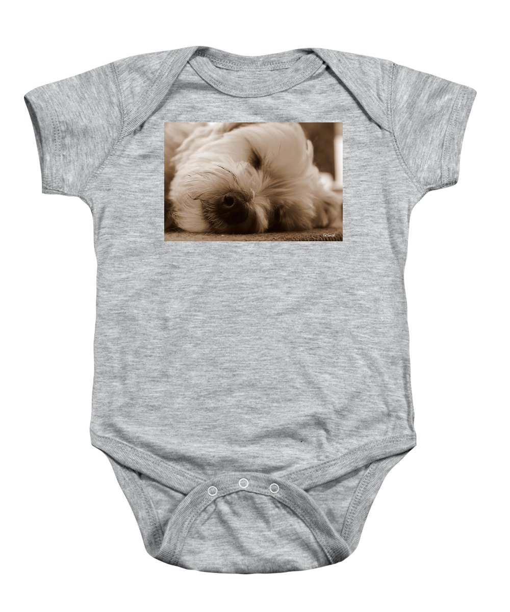Nap Time Baby Onesie featuring the photograph Nap Time by Ed Smith