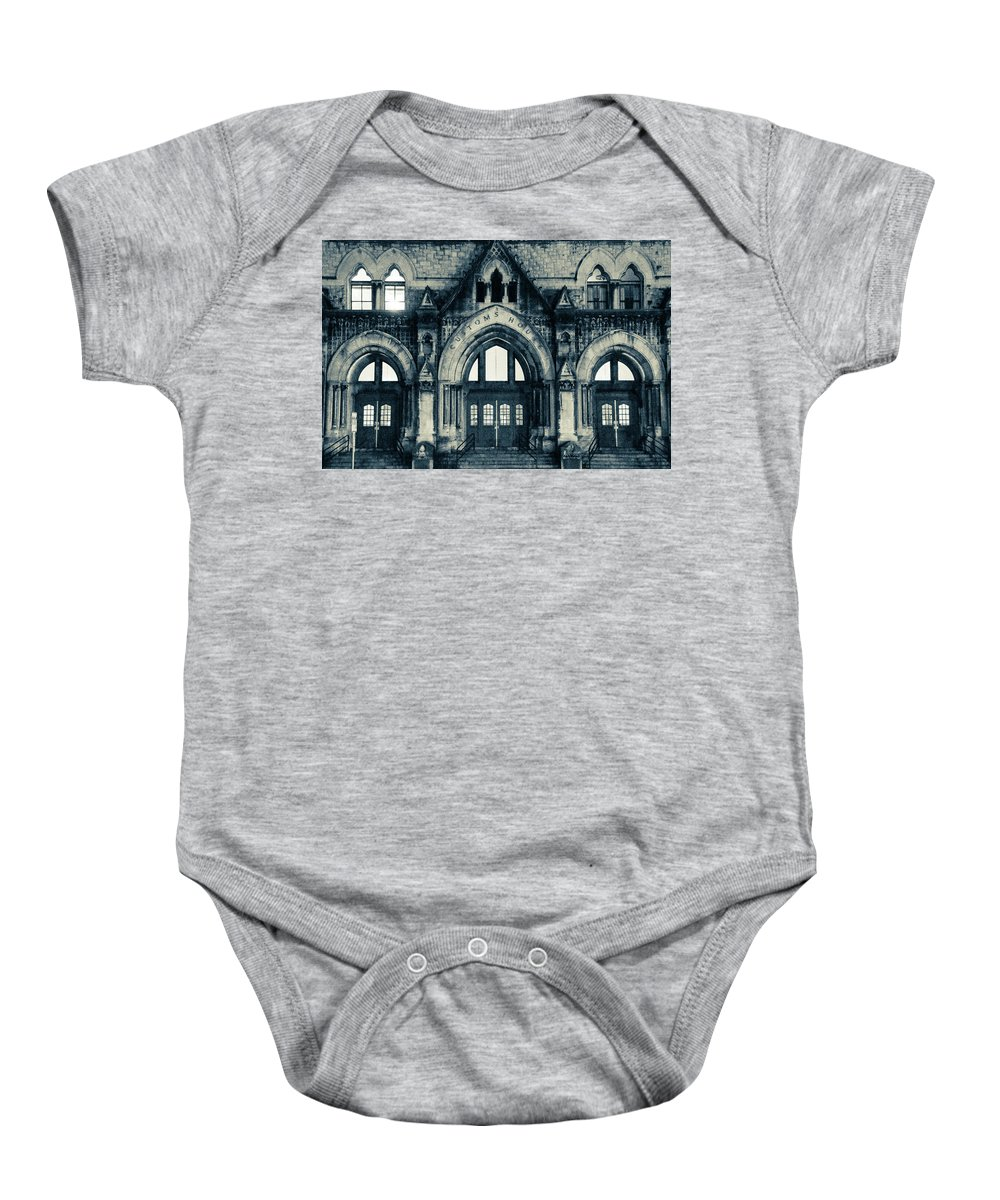 Reconstruction Baby Onesie featuring the photograph Nashville Customs House by Brian O'Kelly