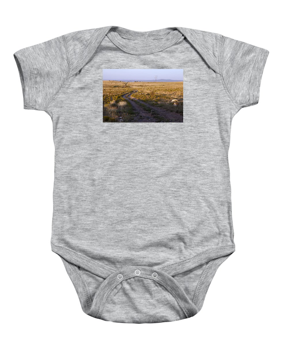 National Old Trails Baby Onesie featuring the photograph National Old Trails South Of Santa Fe by Rick Pisio