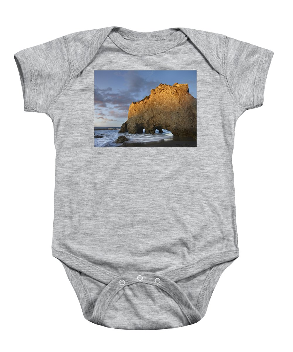 00443045 Baby Onesie featuring the photograph Natural Bridge On El Matador State by Tim Fitzharris
