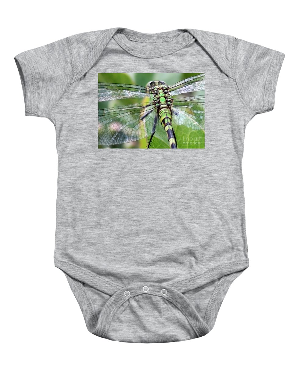 Nature Baby Onesie featuring the photograph Natural Stained Glass by Carol Groenen