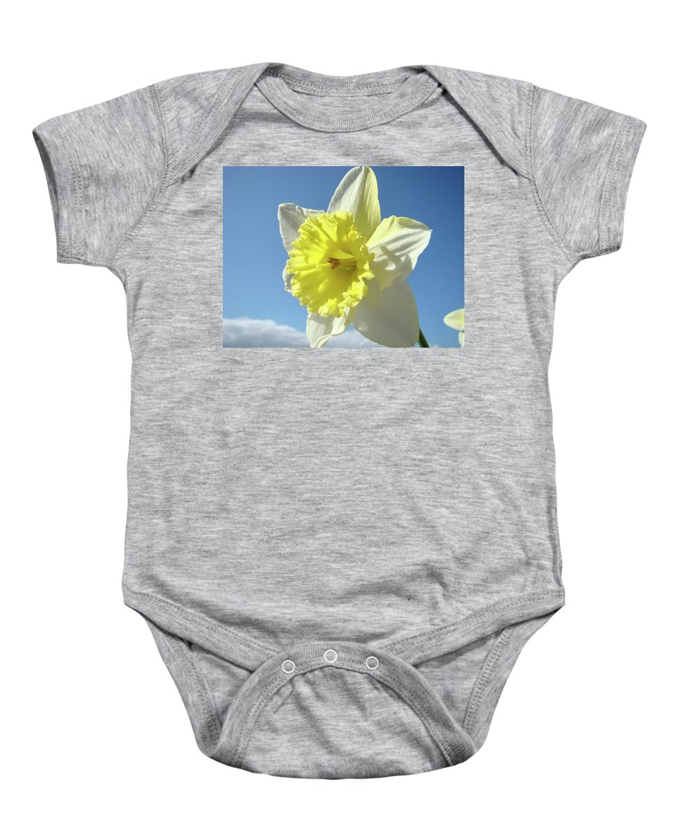 �daffodils Artwork� Baby Onesie featuring the photograph Nature Daffodil Flowers Art Prints Spring Nature Art by Baslee Troutman