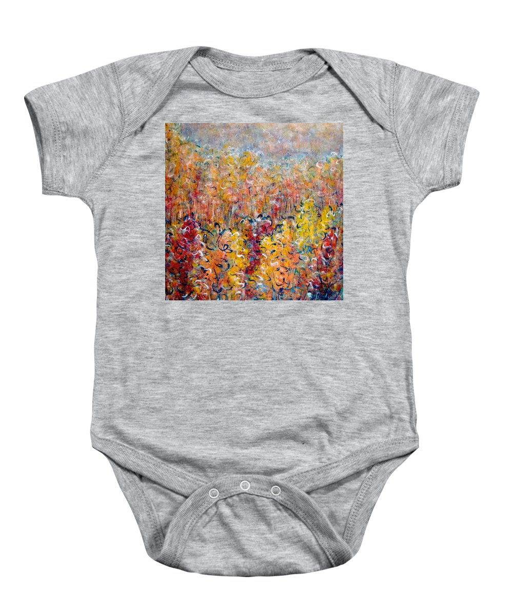 Autumn Baby Onesie featuring the painting Nature by Natalie Holland