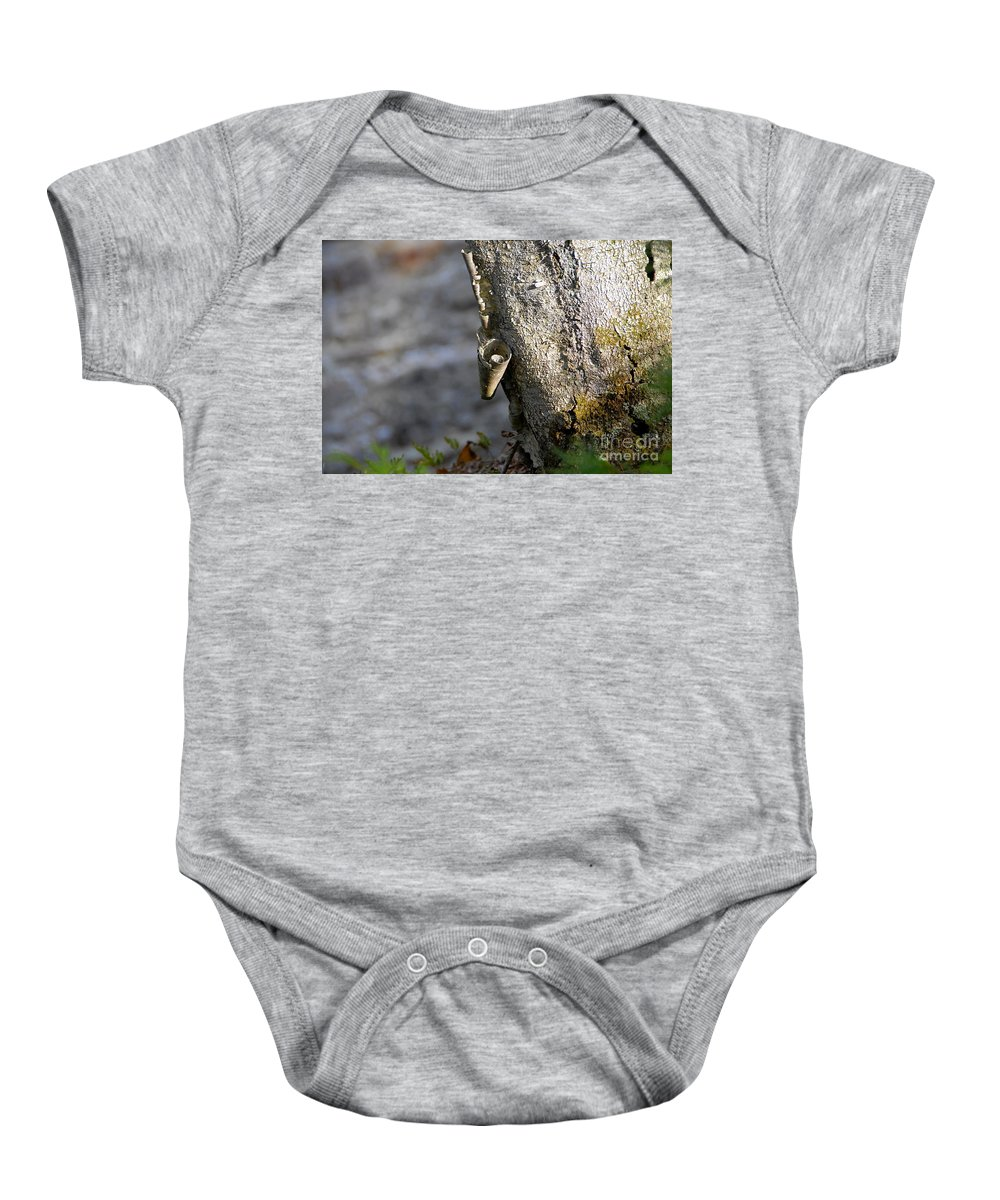 Wood Baby Onesie featuring the photograph Nature's Detail by David Lee Thompson