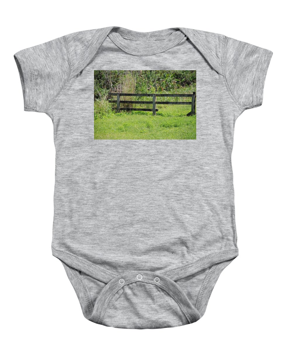 Fence Baby Onesie featuring the photograph Natures Fence by Rob Hans