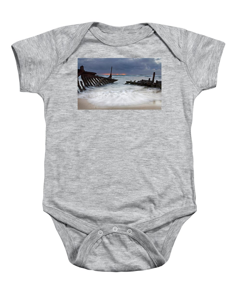 Keel Baby Onesie featuring the photograph Nautical Skeleton by Mike Dawson