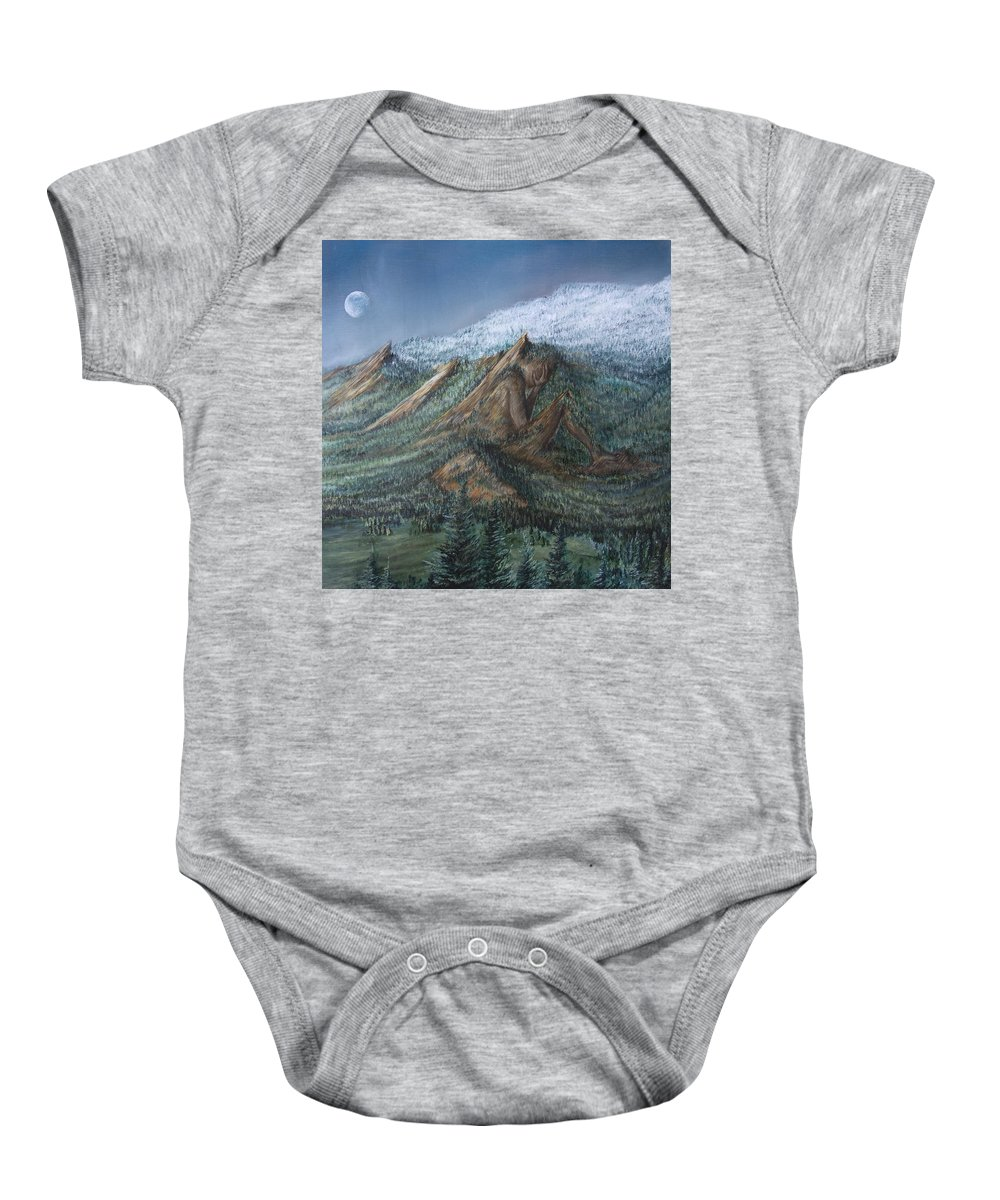 Landscape Baby Onesie featuring the painting Never Alone by Austin Howlett