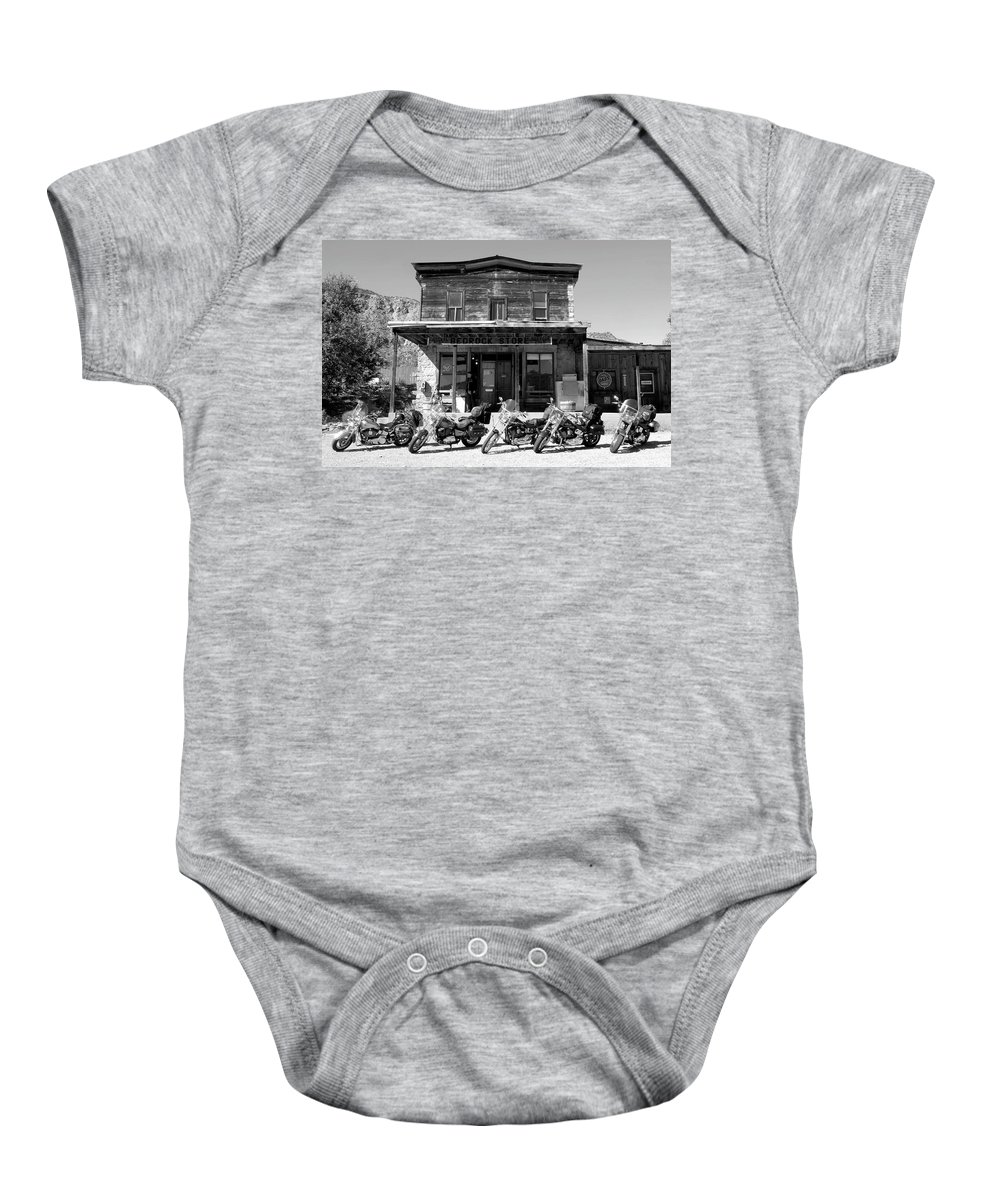 Fine Art Photography Baby Onesie featuring the photograph New Horses At Bedrock by David Lee Thompson