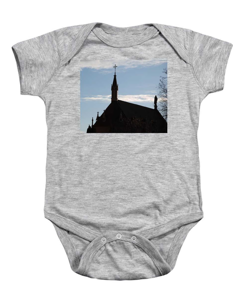 Church Baby Onesie featuring the photograph New Mexican Church by Rob Hans