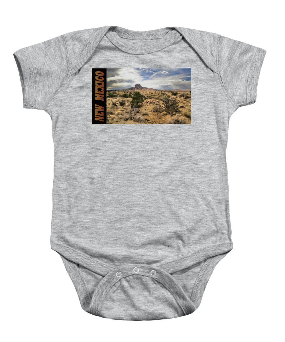 Cabezon Peak Baby Onesie featuring the photograph New Mexico by Gary Yost
