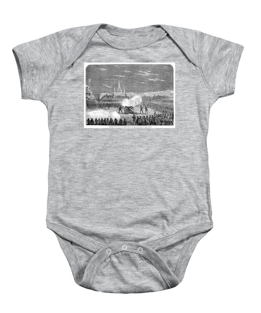 1873 Baby Onesie featuring the photograph New Orleans: Riot, 1873 by Granger
