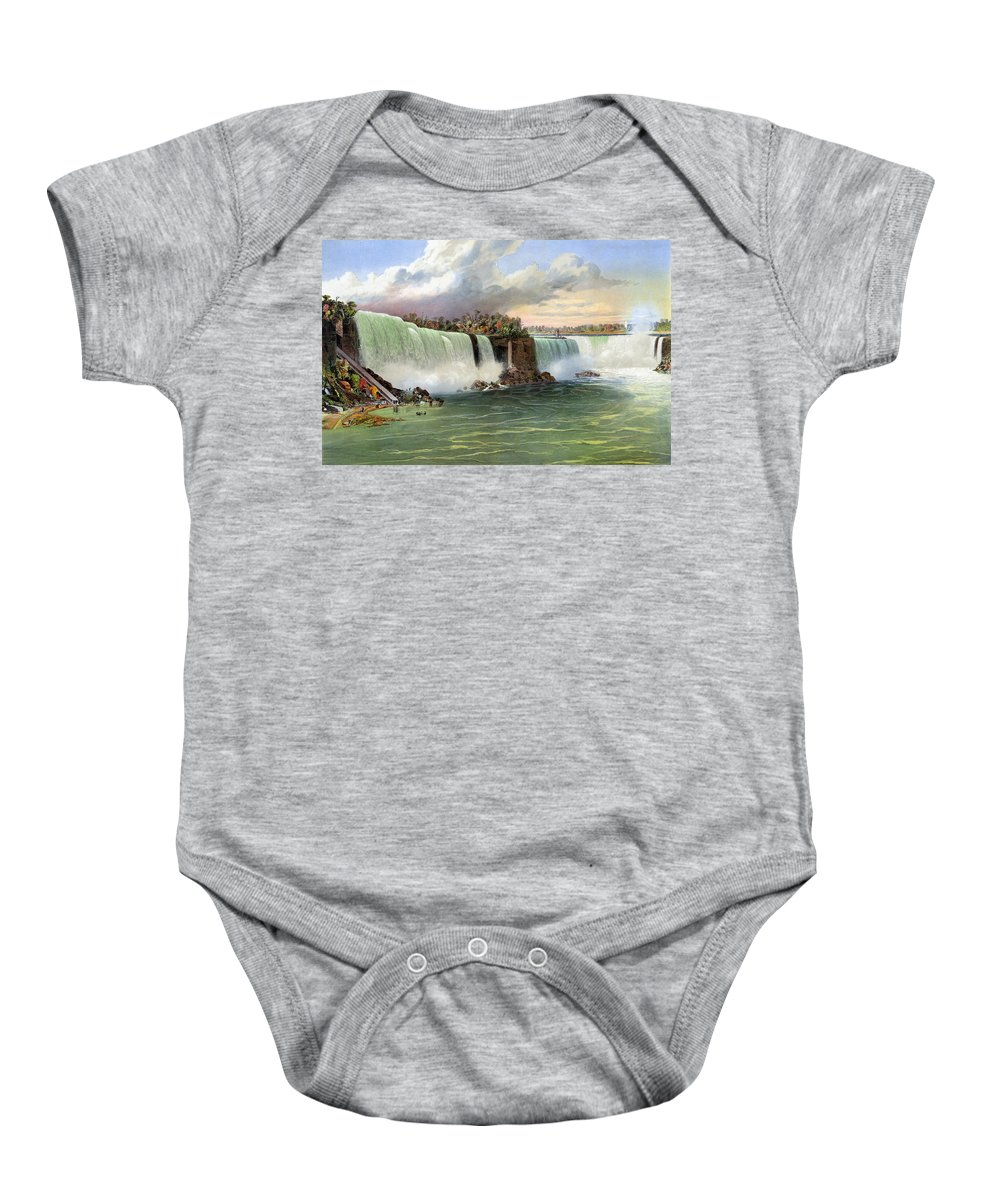1840 Baby Onesie featuring the photograph Niagara Falls, C1840 by Granger