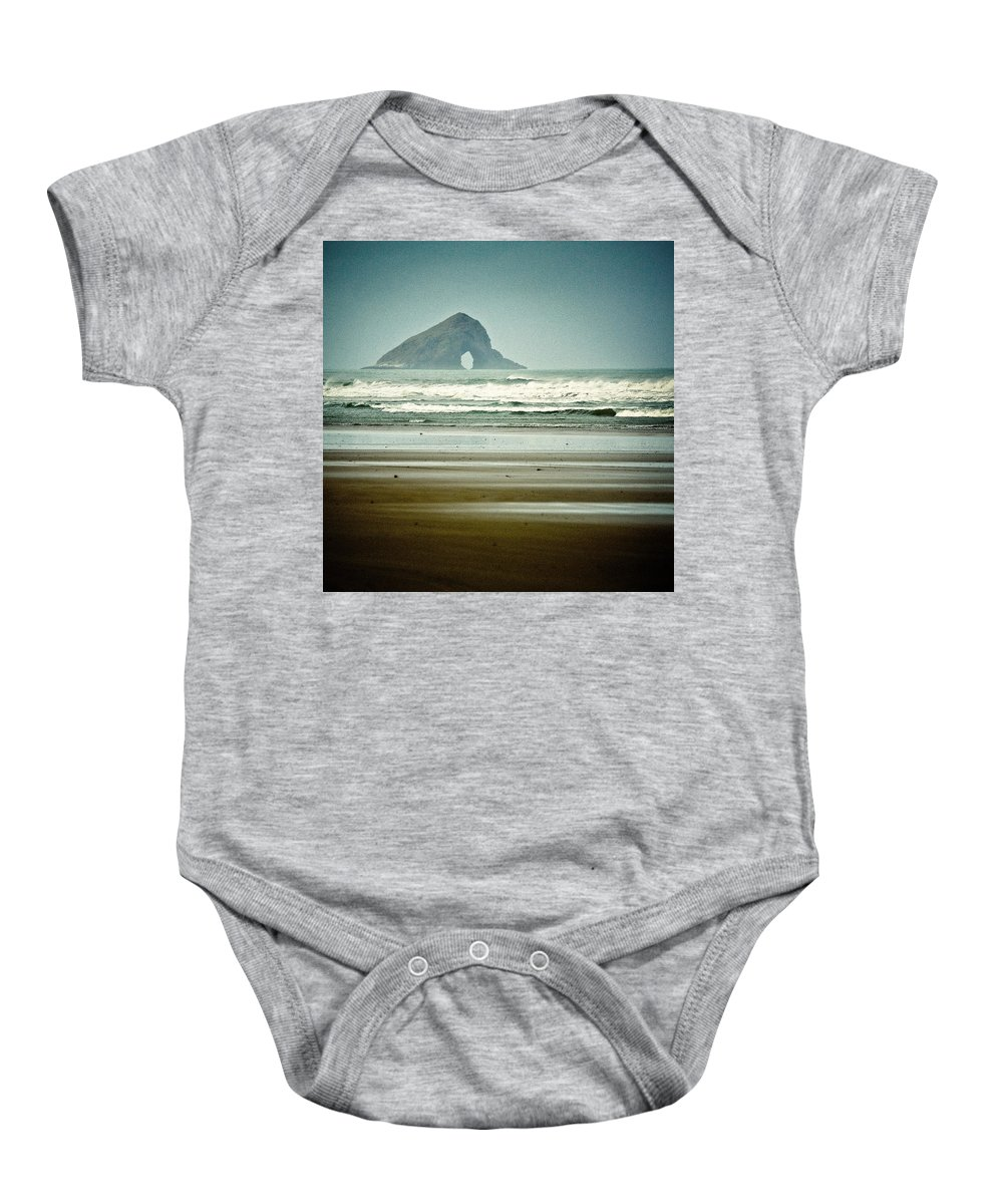 Seascape Baby Onesie featuring the photograph Ninety Mile Beach by Dave Bowman