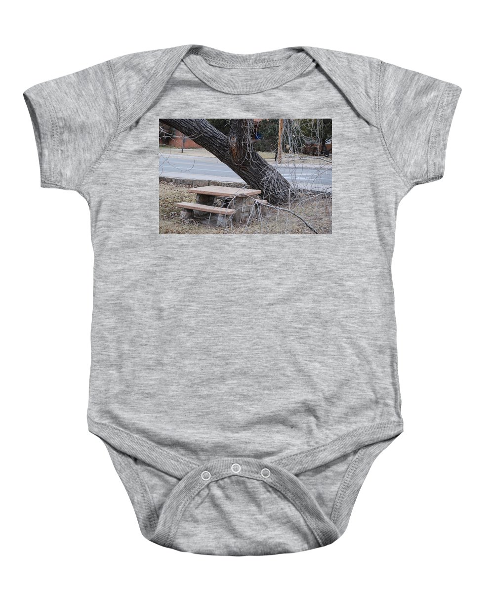Trees Baby Onesie featuring the photograph No One Sits Here by Rob Hans