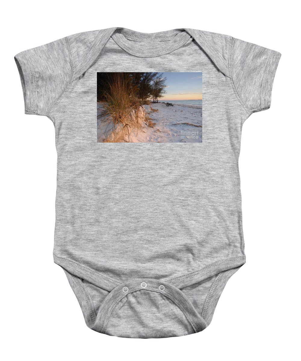 North Beach Baby Onesie featuring the photograph North Beach by David Lee Thompson