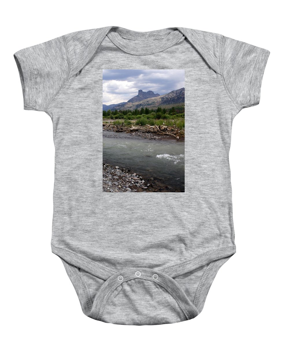 Rivers Baby Onesie featuring the photograph North Of Dubois Wy by Marty Koch