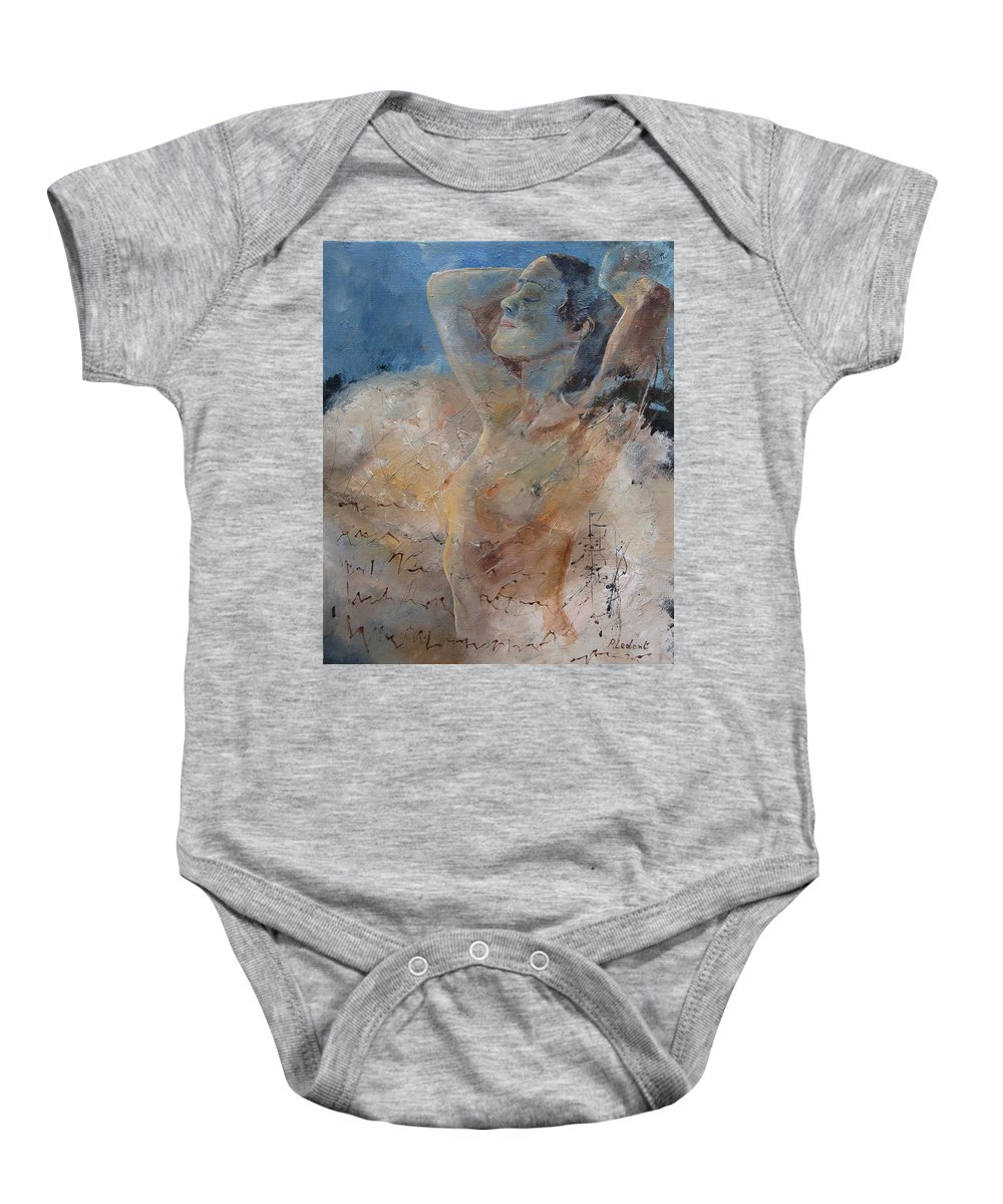 Nude Baby Onesie featuring the painting Nude 0508 by Pol Ledent