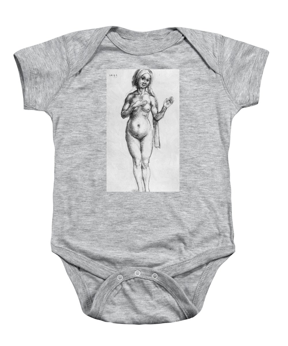 Nude Baby Onesie featuring the painting Nude 1493 by Durer Albrecht