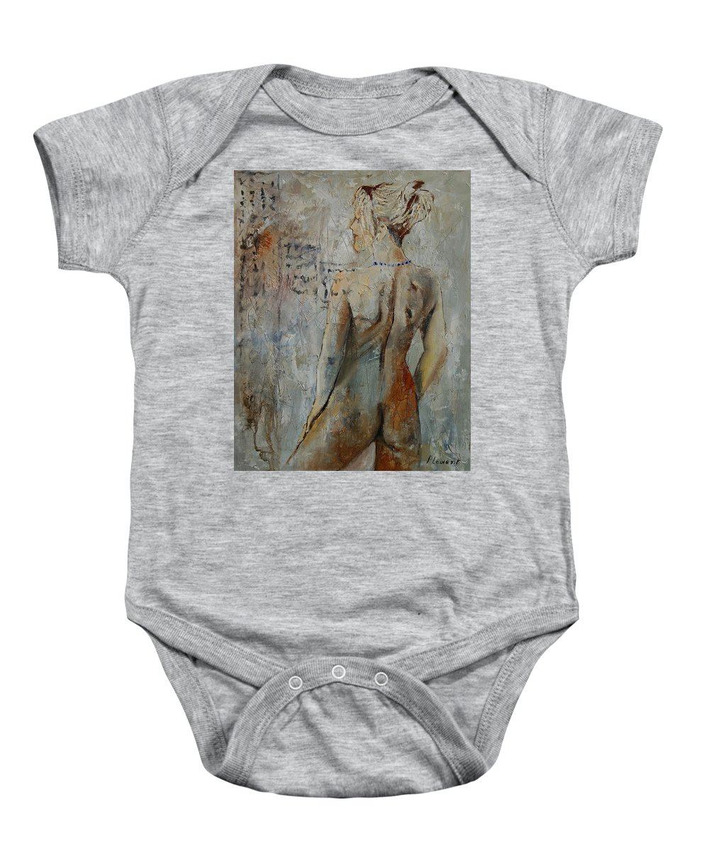Girl Baby Onesie featuring the painting Nude 459020 by Pol Ledent