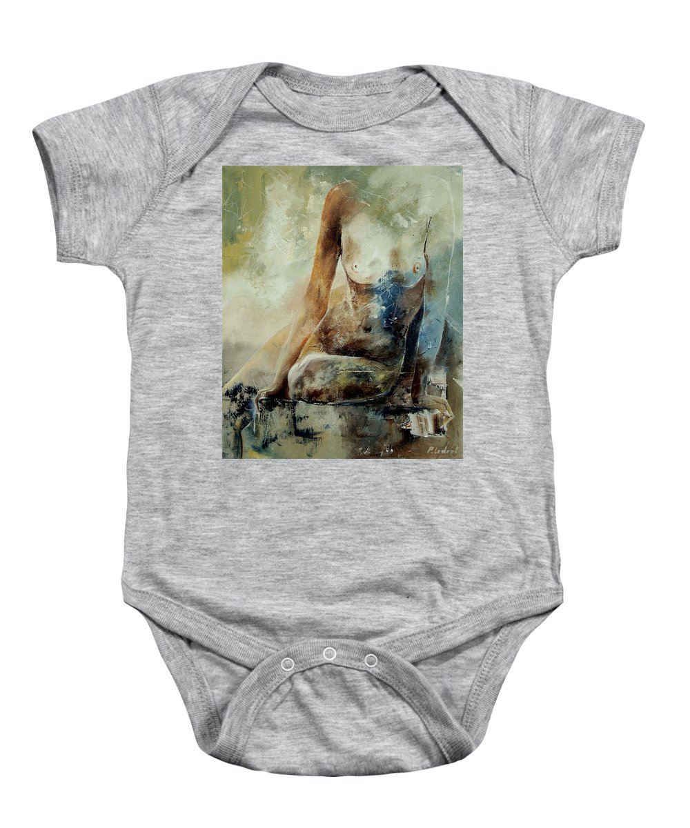 Nude Baby Onesie featuring the painting Nude 560408 by Pol Ledent