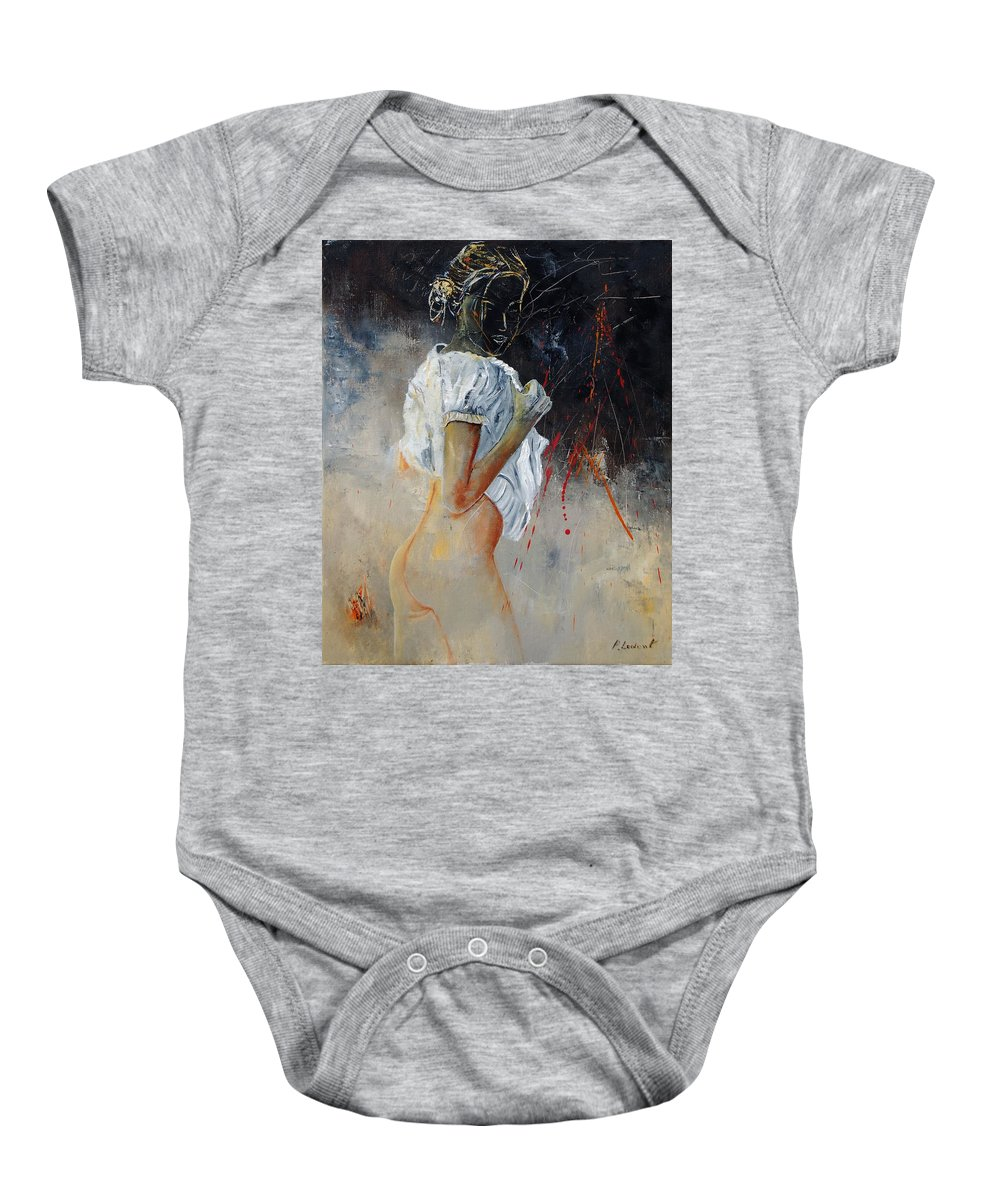 Nude Baby Onesie featuring the painting Nude 560508 by Pol Ledent