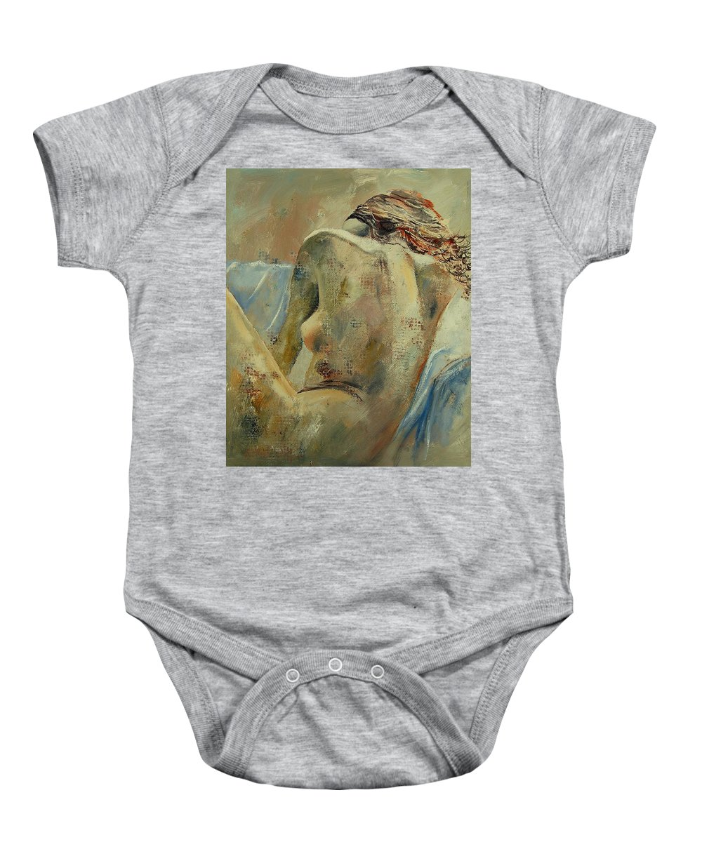 Baby Onesie featuring the painting Nude 56905092 by Pol Ledent