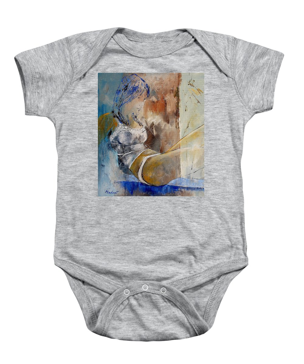 Nude Baby Onesie featuring the painting Nude 67524236 by Pol Ledent
