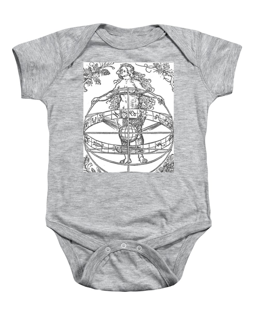 Nude Baby Onesie featuring the painting Nude Woman With The Zodiac by Durer Albrecht