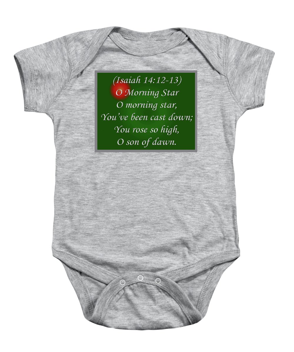 Poem Baby Onesie featuring the digital art O Morning Star by Day Williams