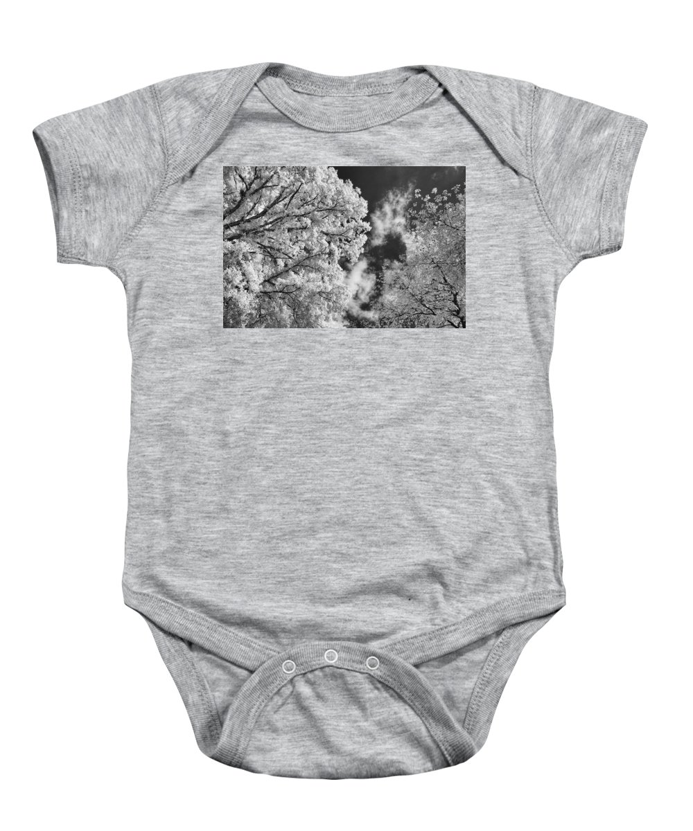 Infrared Baby Onesie featuring the photograph October Sky Ir by Michael McGowan