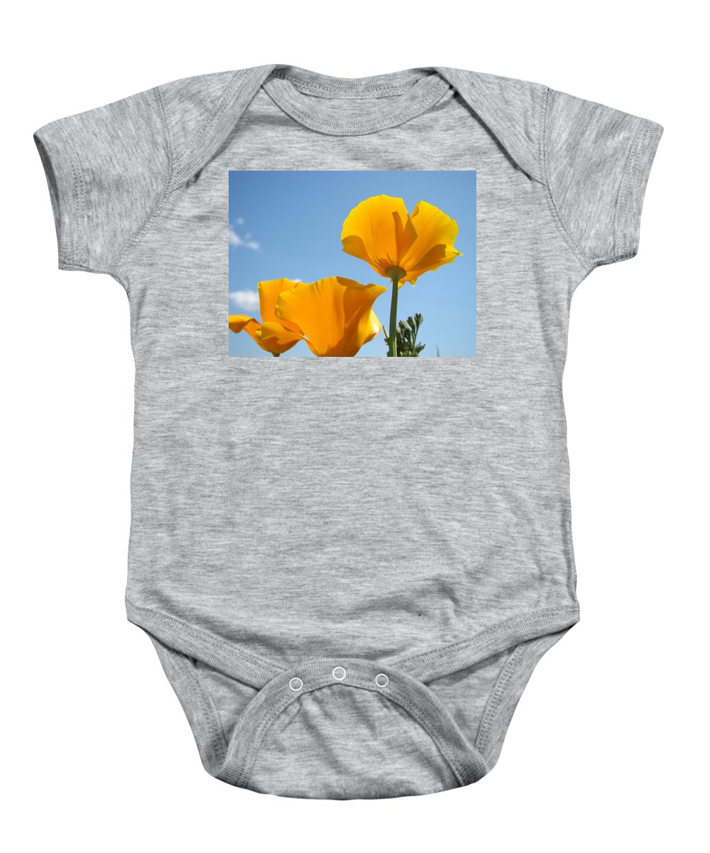 Poppies Baby Onesie featuring the photograph Office Art Prints Poppies 12 Poppy Flowers Giclee Prints Baslee Troutman by Baslee Troutman