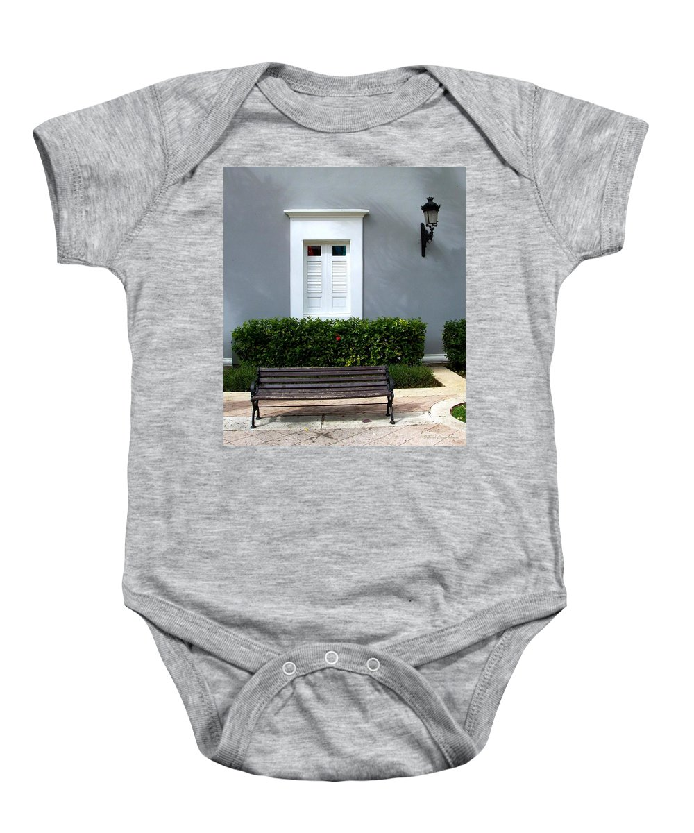 Building Baby Onesie featuring the photograph Official Bldg by Deborah Crew-Johnson