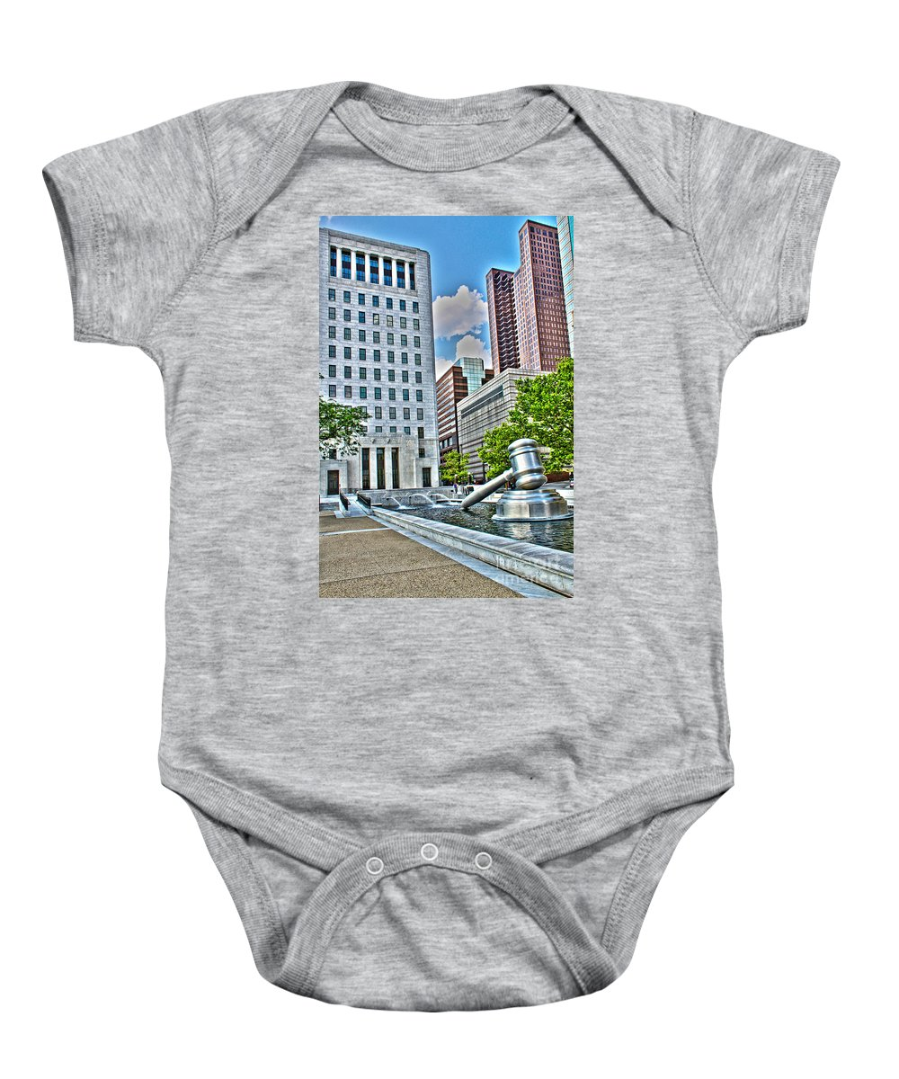 Ohio Supreme Court Baby Onesie featuring the photograph Ohio Supreme Court by Jack Schultz