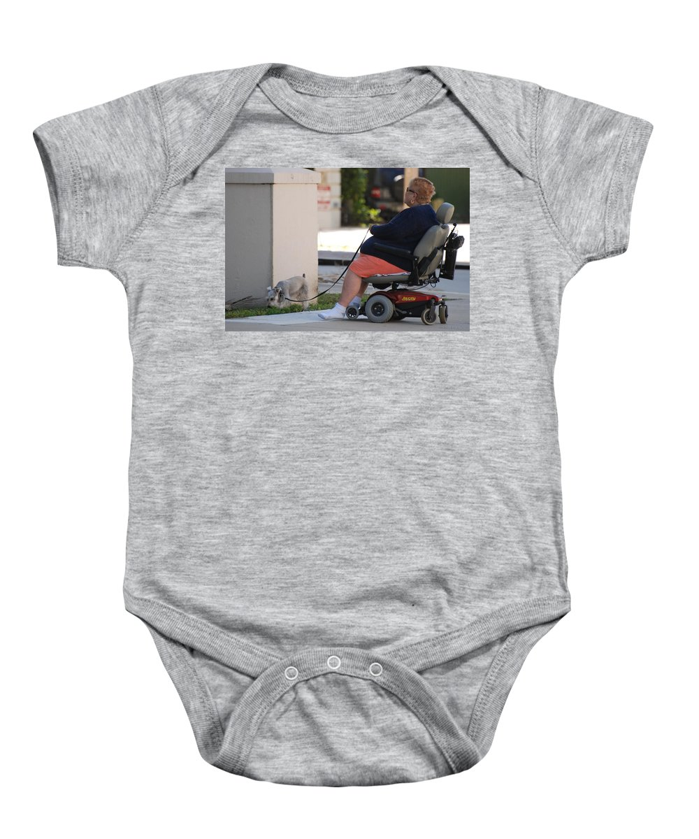 Women Baby Onesie featuring the photograph Old Barefoot Women by Rob Hans