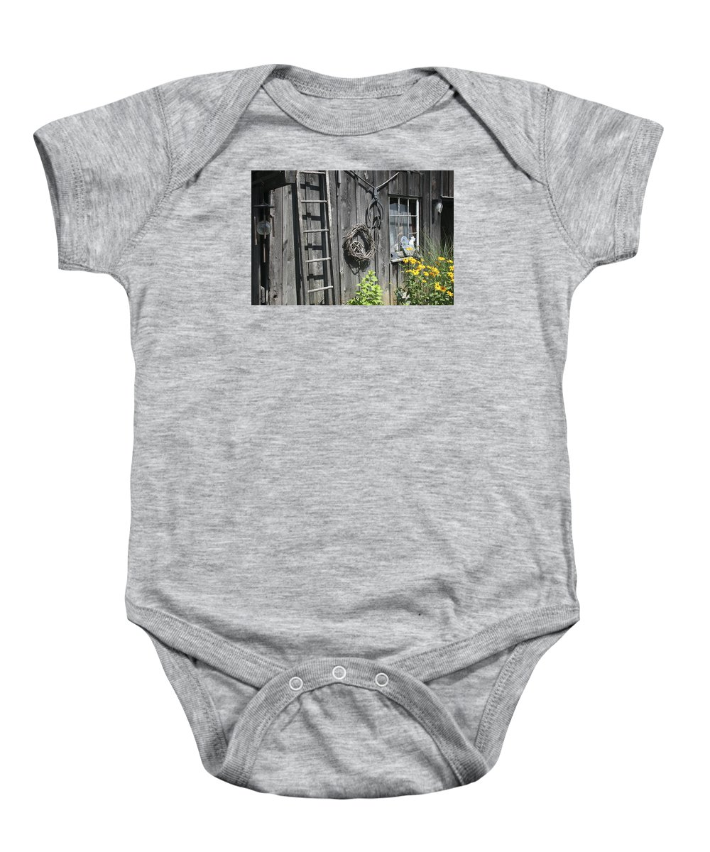 Barn Baby Onesie featuring the photograph Old Barn II by Margie Wildblood
