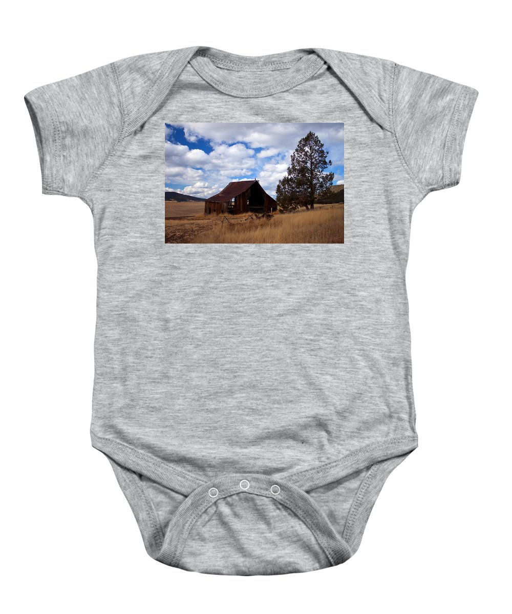 Barn Baby Onesie featuring the photograph Old Barn by Merrill Beck