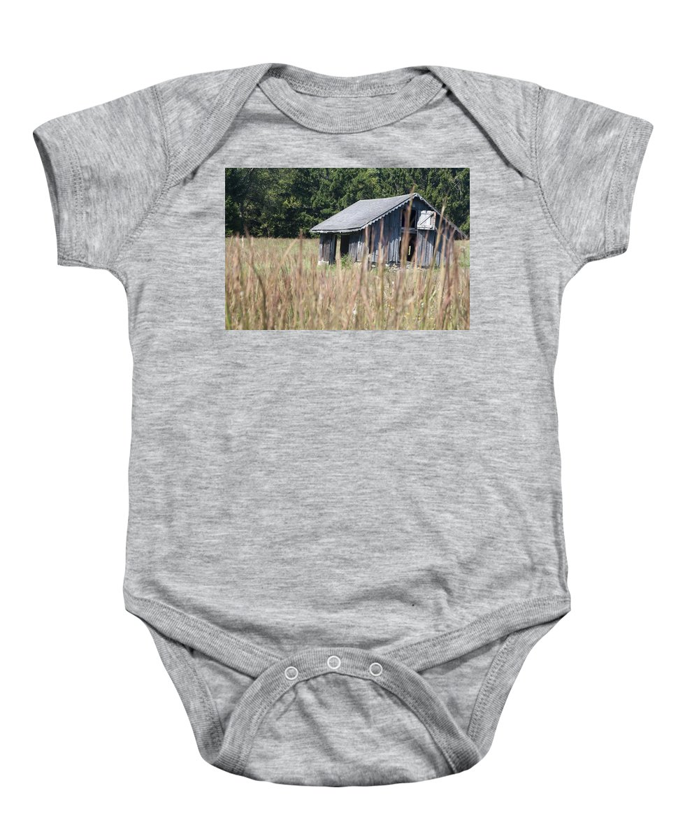 Barn Baby Onesie featuring the photograph Old Barn by Steven Natanson