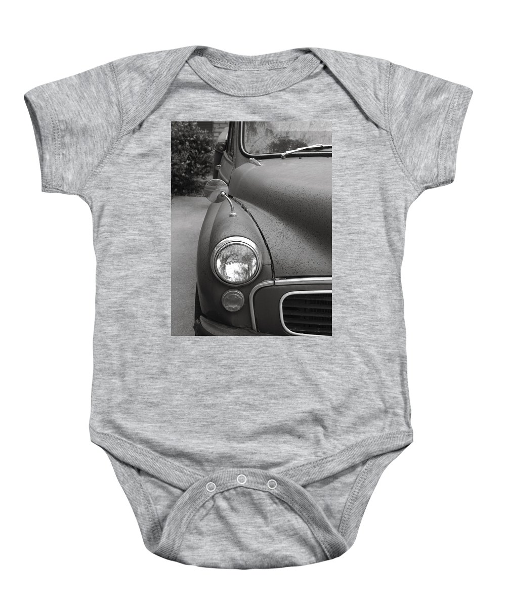 Old Baby Onesie featuring the photograph Old English Car by Marilyn Hunt