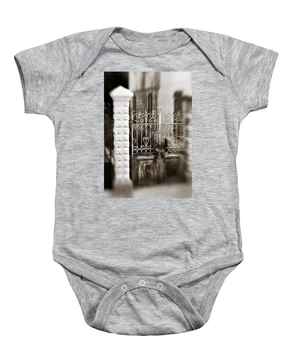 Old Baby Onesie featuring the photograph Old Heart Gate by Marilyn Hunt