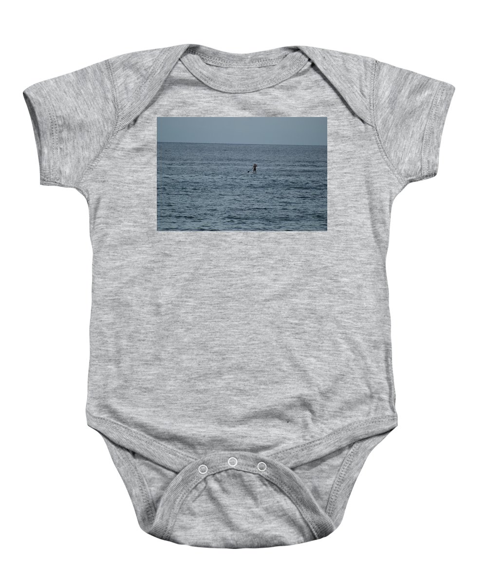 Sea Scape Baby Onesie featuring the photograph Old Man In The Sea by Rob Hans