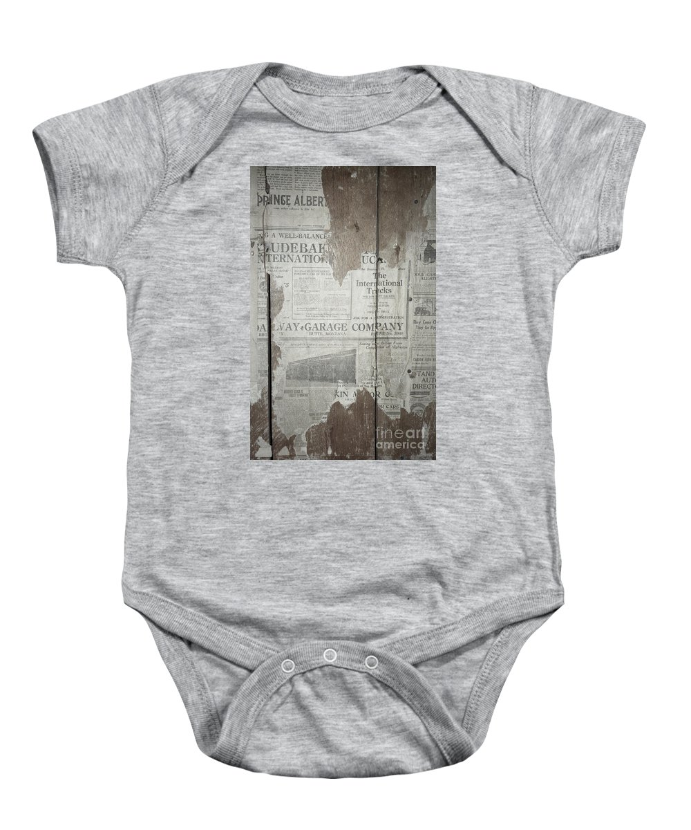 Newspapers Baby Onesie featuring the photograph Old News by Richard Rizzo