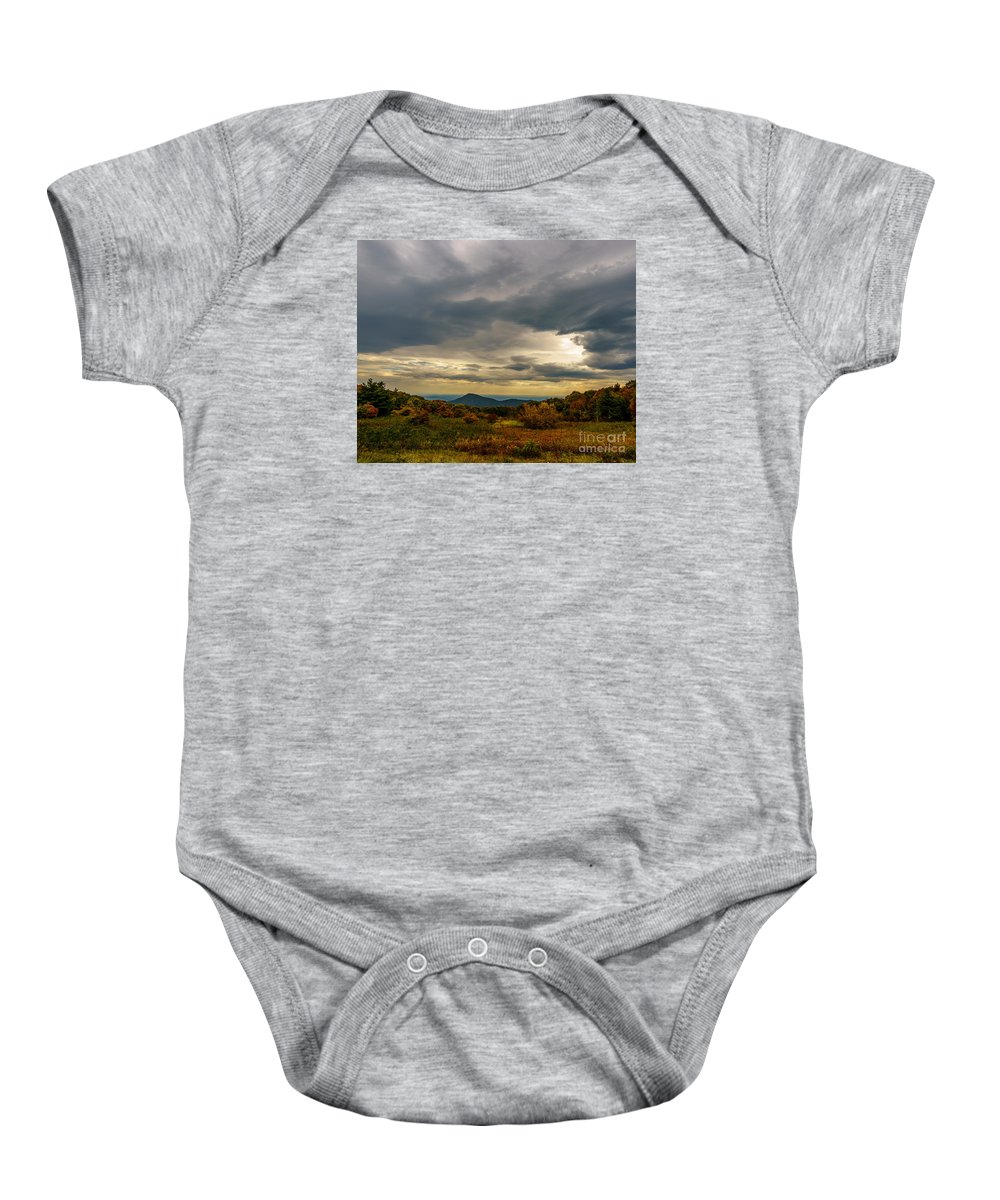 Old Rag Baby Onesie featuring the photograph Old Rag - Calm Before The Storm by Blaine Blasdell