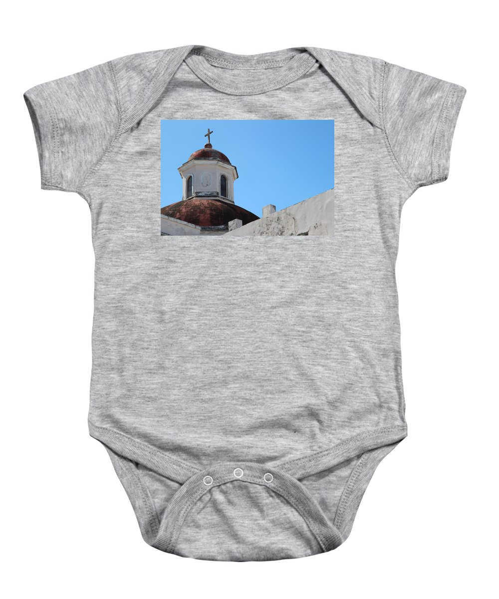 Old San Juan Puerto Rico Baby Onesie featuring the photograph Old San Juan Puerto Rico Downtown Church by Robert Smith