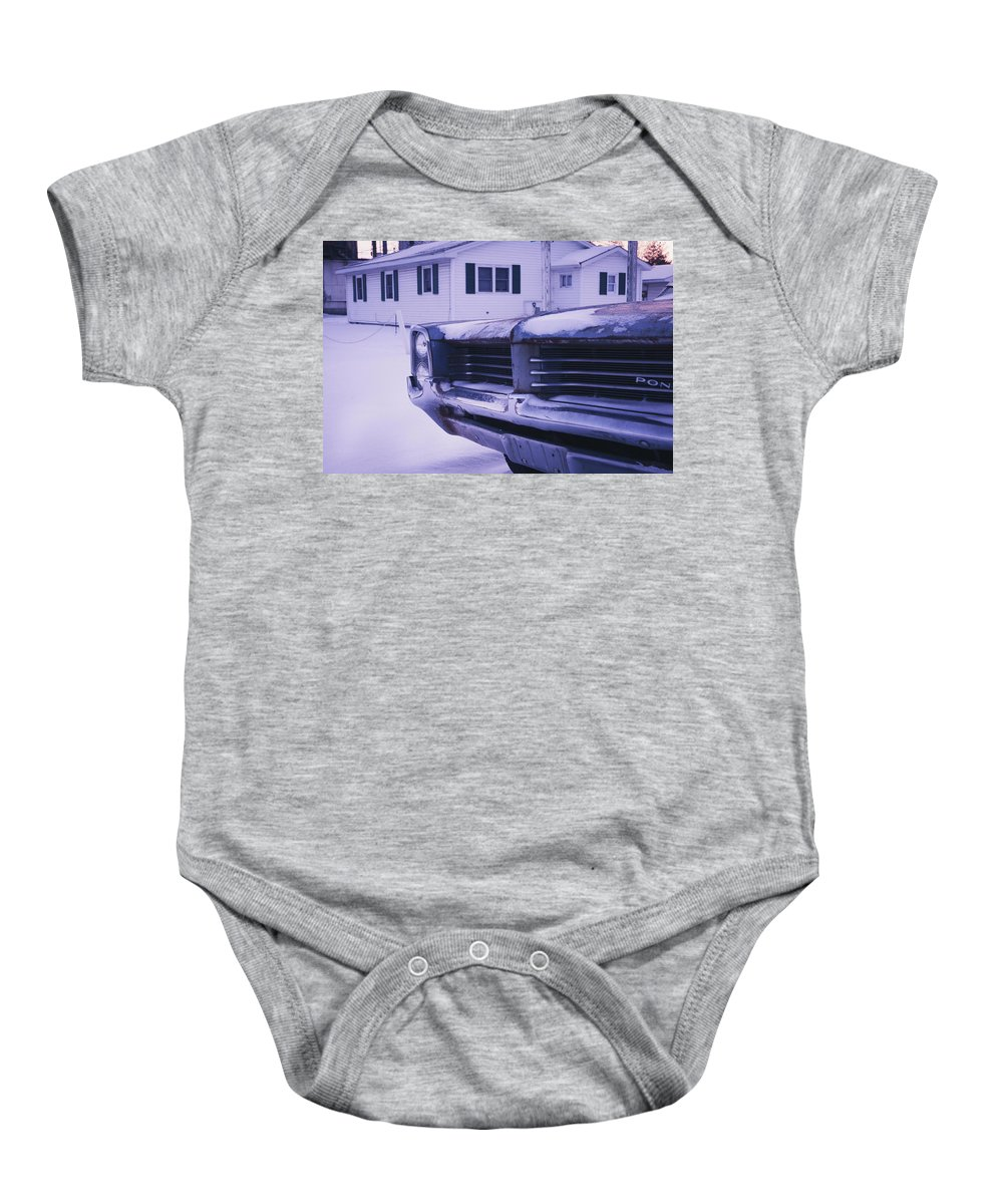 Pontiac Baby Onesie featuring the photograph Old Suburbia by David Jilek