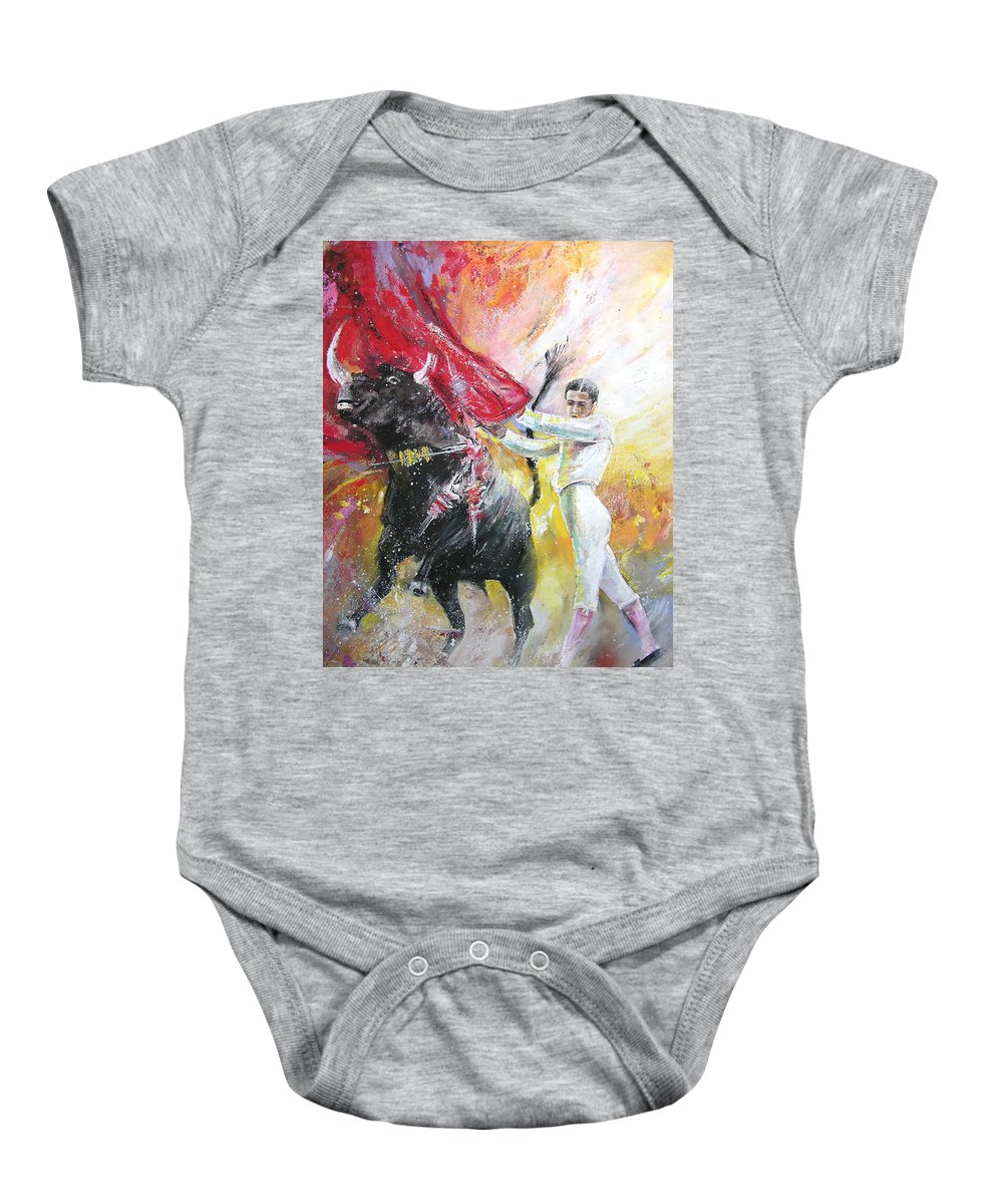 Animals Baby Onesie featuring the painting Ole by Miki De Goodaboom