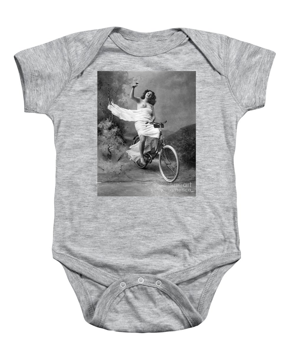1900 Baby Onesie featuring the photograph One For The Road, C1900 by Granger