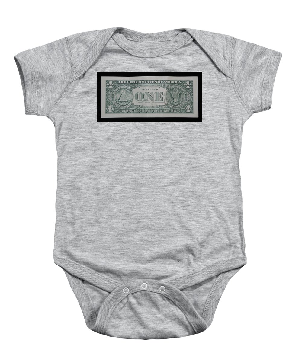 One Baby Onesie featuring the photograph One Green Back by Rob Hans