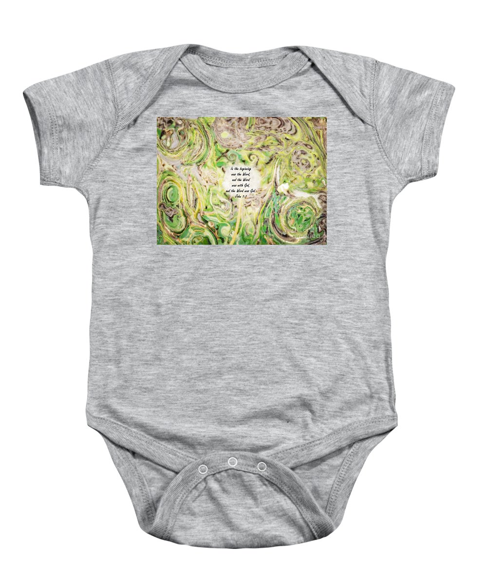 One Wish - Verse Baby Onesie featuring the photograph One Wish - Verse by Anita Faye